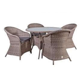 Aiamööbli komplekt SIENA, laud ja 4 tooli