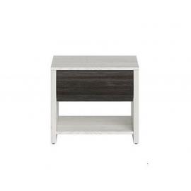 Öökapp SALINS valge / pruun, 41x39xH50 cm