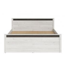 Voodi SALINS valge / pruun, 167x204,5xH85 cm