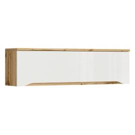 Seinakapp NUIS valge / tamm, 135x37,5xH29 cm