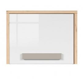Seinakapp NAMEK pöök / hall / valge, 60x29,5xH45,5 cm