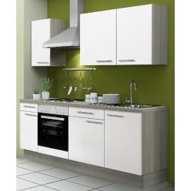 Köögikomplekt OPTIkoncept valge läikega, 210 cm