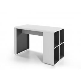 Kirjutuslaud TADEO valge / antratsiit, 119x59xH76 cm