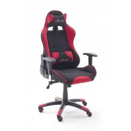 Töötool MC RACING must / punane, 69x58xH125 cm