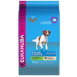 Eukanuba Mature & Senior Lamb & Rice koeratoit eakale koerale 12kg
