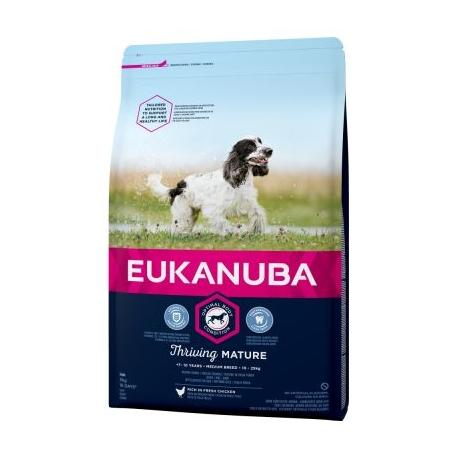 Eukanuba Mature & Senior koeratoit keskmistele koertele 12kg