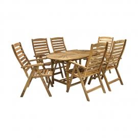 Aiamööbli komplekt FINLAY laud ja 6 tooli