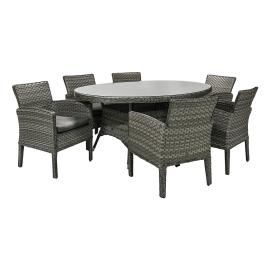 Aiamööbli komplekt GENEVA laud ja 6 tooli