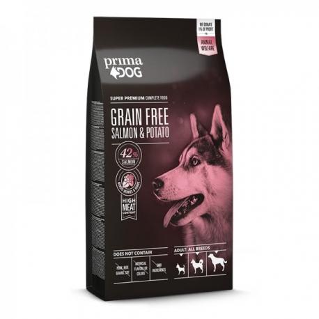 Prima Dog täistoit lõhe-kartuli kõikidele täiskasvanud koertele 10 kg
